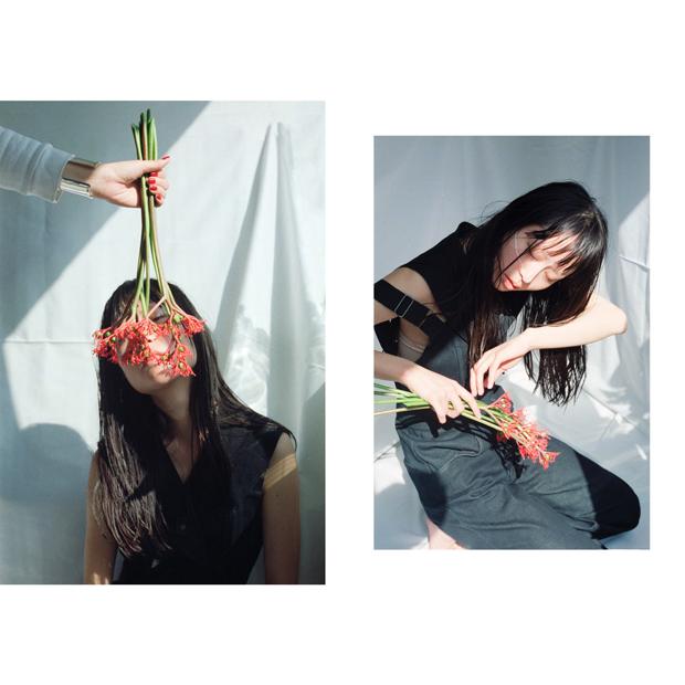 Photographer: Mitch Nakano / Stylist: Koji Oyamada / Hair-make: Kaori Shinohara / Model: Ten (Bellona Model Agency) / Flower: Megumi Shinozaki